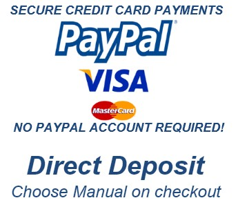 Secure Credit Card Payments With Paypal - No PayPal Account required