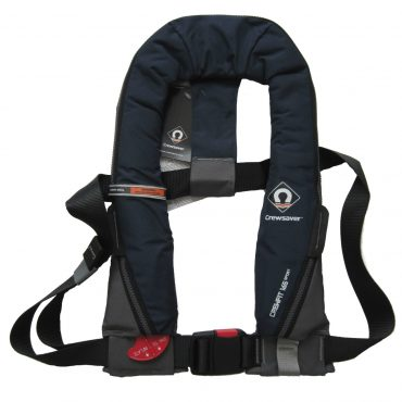 Designed with a Peninsular Chin support, to keep your airway well clear of the water whatever the conditions Attachment point for Crewsaver Surface Light Robust outer cover for durability UML MK5 Automatic or Halkny Roberts 840 Manual operating heads Centre buckle adjuster Oral Tube Whistle Reflective tape Lifting becket